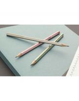 Grafitna olovka Faber-Castell Sparkling metalik zelena