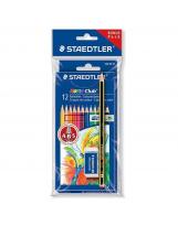 Bojice drvene 12 boja+grafitna olovka+gumica Staedtler Noris Club 144 NC12