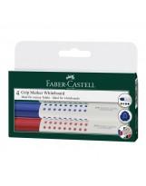 Marker za bijelu ploču Faber-Castell GRIP 1583 okrugli vrh set 4 boje
