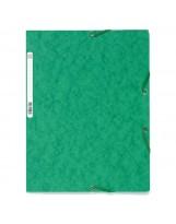 Fascikl prešpan klapna s gumicom A4 Exacompta zeleni